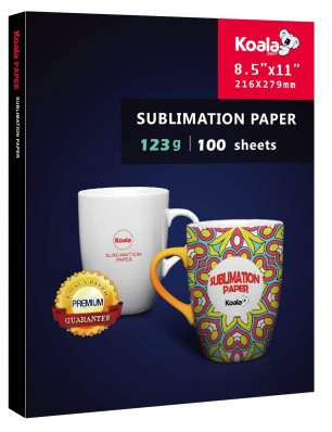 KOALA Sublimation Transfer Paper 8.5x11 Inch 100 Sheets 123gsm for Inkjet Printer