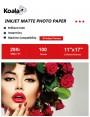 KoalaInkjet MattePhotoPaper 11x17 Inch 108gsm 100 Sheets Used For Inkjet Printer