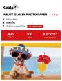 Koala Inkjet Glossy Photo Paper 8.5x11 Inch 135gsm 100 Sheets Used For All Inkjet Printers