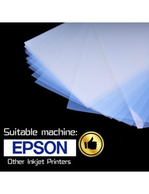 A-sub 8.5 x 11 Inch Waterproof Inkjet Transparency Film for Silk Screen Printing