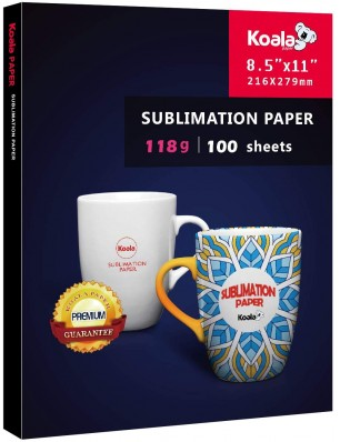 KOALA Sublimation Transfer Paper 8.5x11 Inch 100 Sheets 118gsm for Inkjet Printer