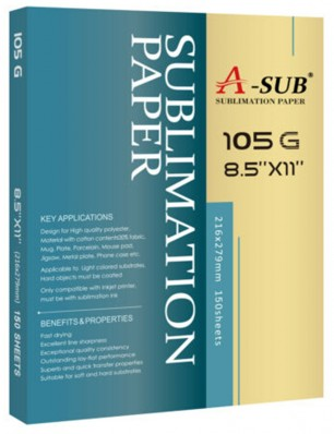 A-SUB Sublimation Paper 150 Sheets  8.5x11 inches 105gsm