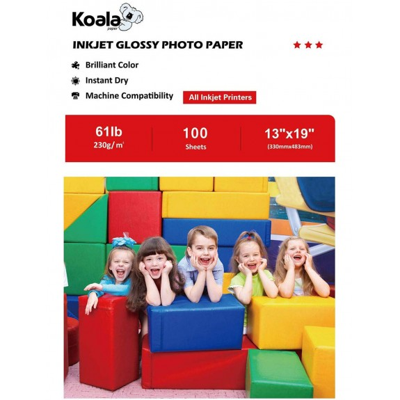 Koala High Glossy Photo Paper 13x19 Inch 230gsm 100 Sheets Used For All Inkjet Printers