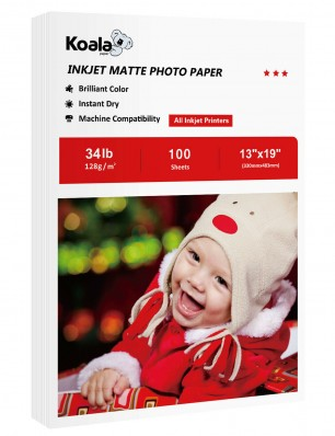 Koala Inkjet Matte Photo Paper 13x19 Inch 128gsm 100 Sheets Used For Inkjet Printer