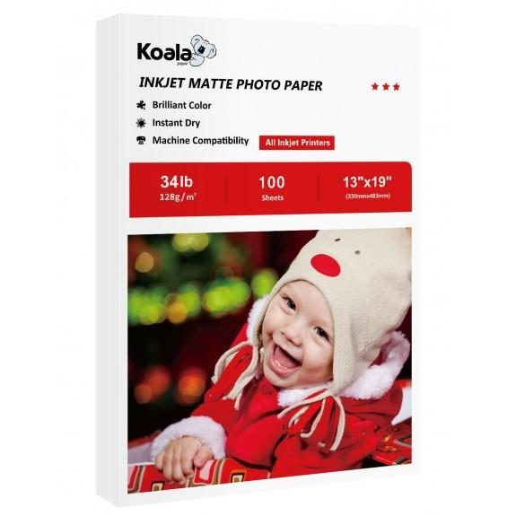 Koala Inkjet Matte Photo Paper 13x19 Inch 128gsm 100 Sheets Used For Inkjet Printer