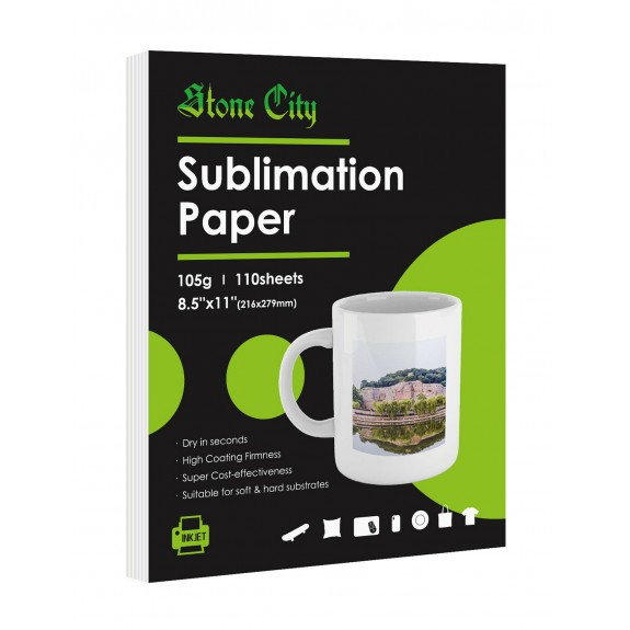 Stone City 105gsm Sublimation Paper 8.5x11 inches 110 Sheets