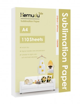 Humudu Sublimation Transfer Paper 8.3'' x 11.7'' 126gsm 110 Sheets for any Inkjet Printer