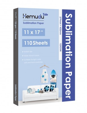 Humudu Sublimation Transfer Paper 11'' x 17'' 122gsm 110 Sheets for any Inkjet Printer