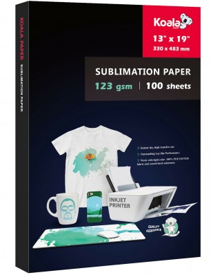 KOALA Sublimation Transfer Paper 13x19 Inch 50 Sheets 123gsm for Inkjet Printer