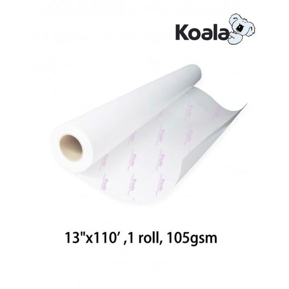 "KoalaSublimation Paper 13""x110'/13""x300', 105gsm roll size"