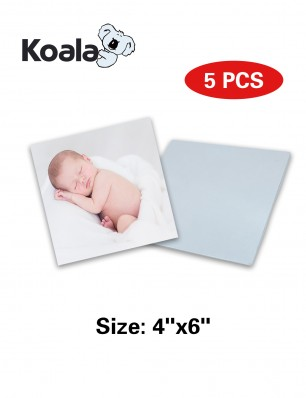 "Koala Sublimation Aluminum Blanks 4"" x 6"" 5 Packs"