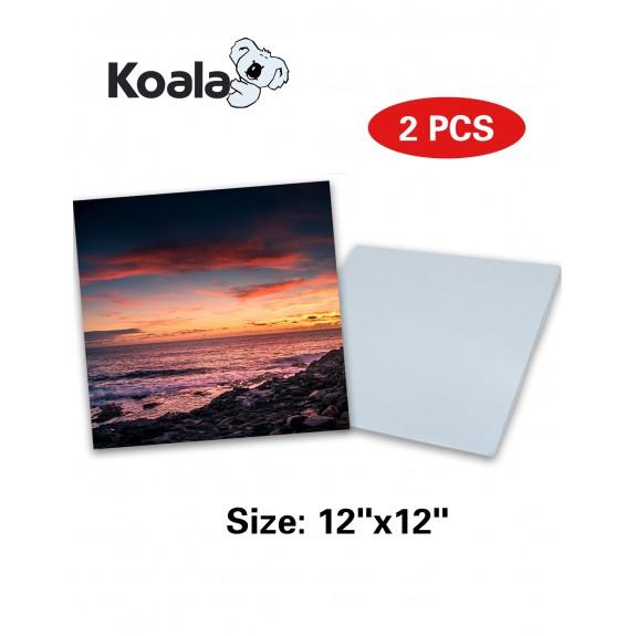 """Koala Sublimation Aluminum Blanks 12"""" x 12"""" 2Pack"""