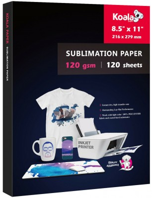 KOALA Sublimation Transfer Paper 8.5x11 Inch 120gsm 120 Sheets for Inkjet Printer