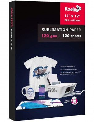 KOALA Sublimation Transfer Paper 11x17 Inch 120gsm 120 Sheets for Inkjet Printer