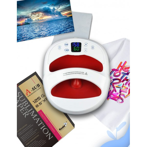 Easy Sublimation Heat Press Machine Package for Soft and Hard substrates