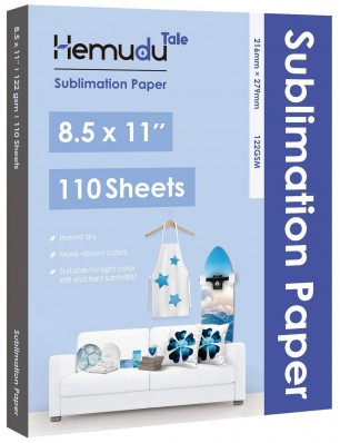 Hemudu Sublimation Transfer Paper 8.5'' x 11'' 122gsm 110 Sheets for any Inkjet Printer