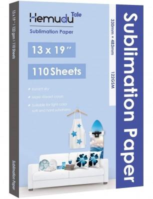 Hemudu Sublimation Transfer Paper 13'' x 19'' 122gsm 110 Sheets for any Inkjet Printer