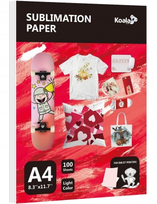 Koala Thin 8.3X11.7 inches 100 Sheets Sublimation Papers