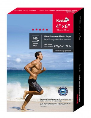 Koala Advanced High Glossy Photo Paper 4x6 Inch 270gsm 100 Sheets Used For All Inkjet Printer