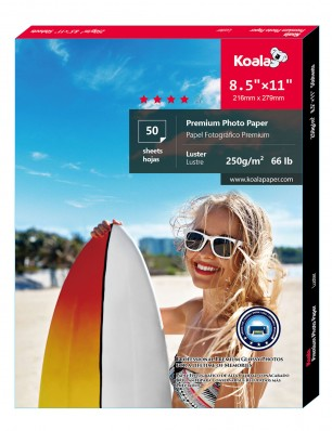 Koala Advanced Luster Photo Paper 8.5x11 inch 50 Sheets used for All Inkjet Printer