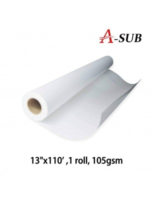 "A-SUB Sublimation Paper 13""x110'/13""x300', 105gsm roll size"