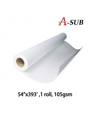 "A-SUB Sublimation Paper 54""x393', 105gsm, roll size"