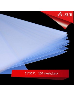 A-SUB 100 Sheets Waterproof Inkjet Transparency Film 11X17 inch, for Screen Printing