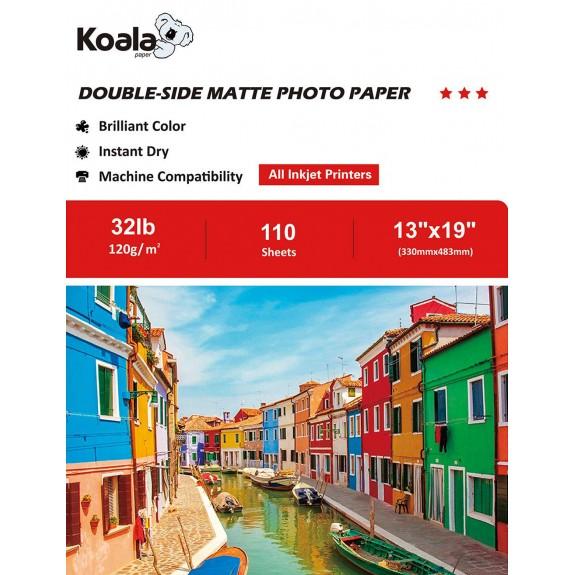 Koala Inkjet Double Sided Matte Photo Paper 13x19 Inch 120gsm 110 Sheets Used For All Inkjet Printers