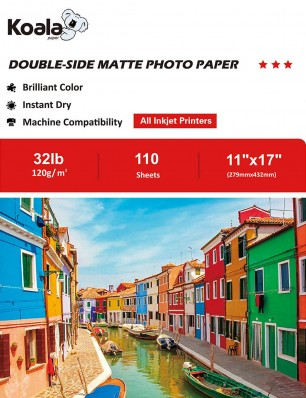 Koala Double Sided Matte Photo Paper 11x17 Inch 120gsm 110 Sheets Used For All Inkjet Printers