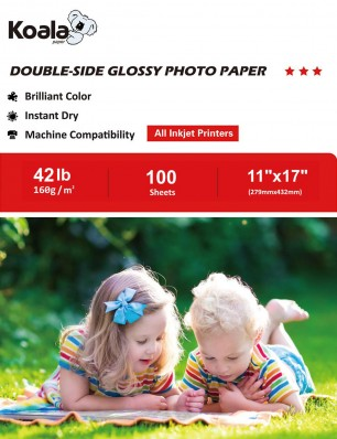Koala Double Side Glossy Photo Paper 11x17 Inch 160gsm 100 Sheets Used For All Inkjet Printers