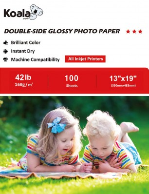 Koala Double Side Glossy Photo Paper 13x19 Inch 160gsm 100 Sheets Used For All Inkjet Printers