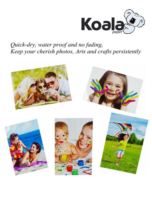 "Koala 100 Sheets 4x6 Advanced 6/"" Luster Inkjet Printer Photo Paper Canon Epson"